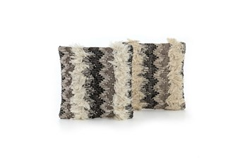 Accent Pillow-Multi Fringe 18X18 Set Of 2