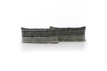 Accent Pillow-Silk Ribbon 12X28 Set Of 2