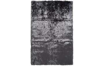 60X96 Rug-Burnout Sheen Shag Slate