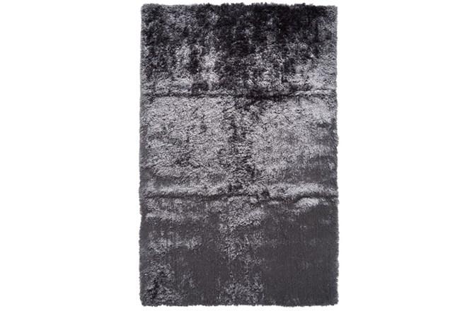 60X96 Rug-Burnout Sheen Shag Slate - 360