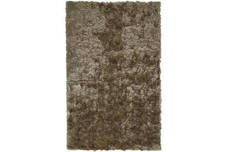 60X96 Rug-Burnout Sheen Shag Taupe