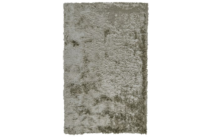 84X120 Rug-Burnout Sheen Shag Silver - 360