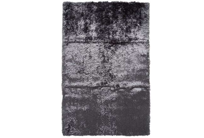 30X72 Rug-Burnout Sheen Shag Slate - 360