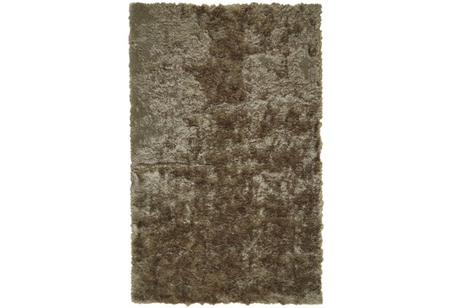 30X72 Rug-Burnout Sheen Shag Taupe - 360