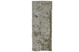 30X120 Rug-Burnout Sheen Shag Silver