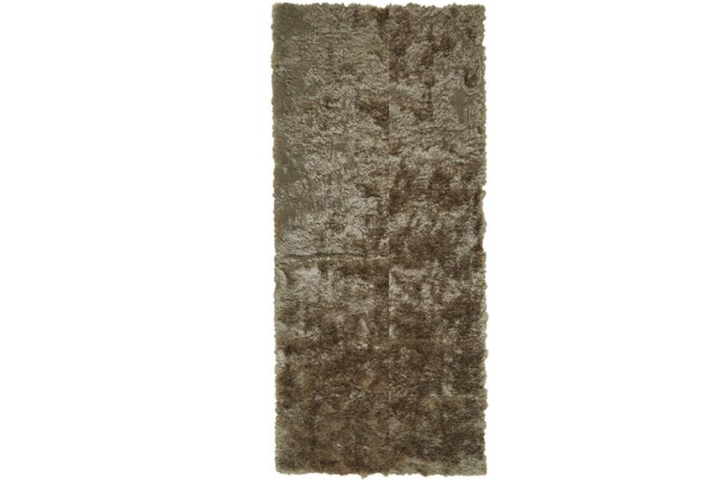 30X120 Rug-Burnout Sheen Shag Taupe