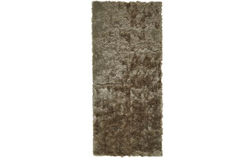 30X120 Rug-Burnout Sheen Shag Taupe