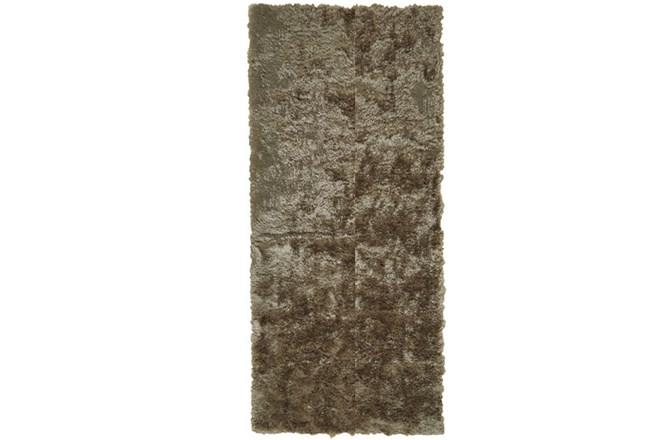 30X120 Rug-Burnout Sheen Shag Taupe - 360