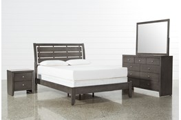 Chad Grey Full 4 Piece Bedroom Set
