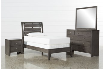 Chad Grey Twin 4 Piece Bedroom Set