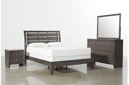 Chad Grey Cal King 4 Piece Bedroom Set