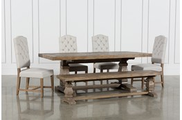 Caden 6 Piece Dining Set With Kaitlyn Side Chairs