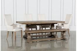 Caden 6 Piece Dining Set With Zane Arm Chairs