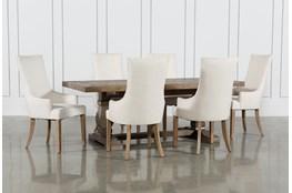 Caden 7 Piece Dining Set With Zane Arm Chairs
