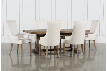 Caden 7 Piece Dining Set With Zane Arm Chairs