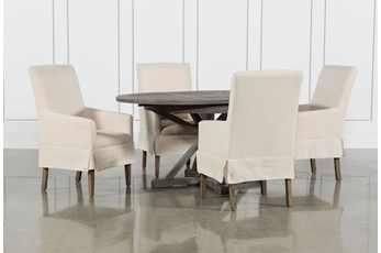 Combs 5 Piece 48 Inch Extension Dining Set With Mindy Side Chairs