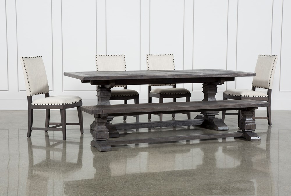 Norwood 6 Piece Rectangular Extension Dining Set With Upholstered Side Chairs