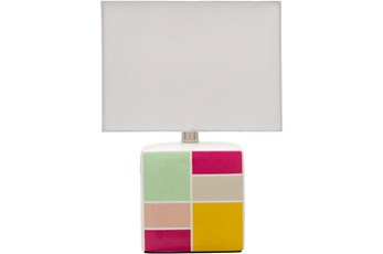 Table Lamp-Youth Geo Pattern Pink