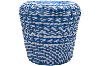 Blue Woven Stool