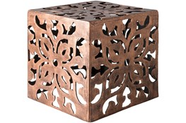 Copper Perforated Metal Stool