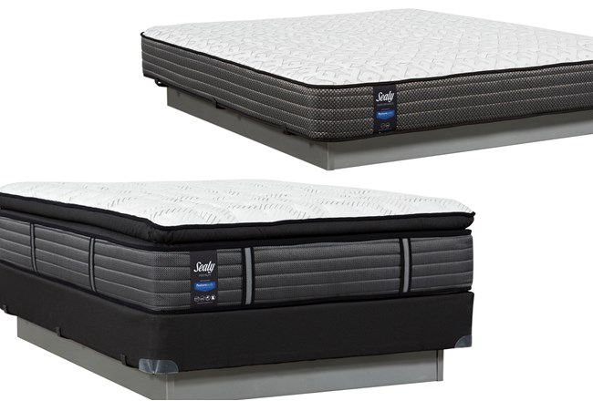 Memorable Pillow Top Queen Mattress W/Foundation & Free Butterfield Eastern King Mattress - 360