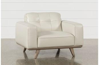 Caressa Leather Dove Grey Chair