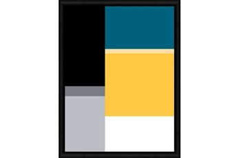 Picture-Canary And Turquoise Color Block I 32X42