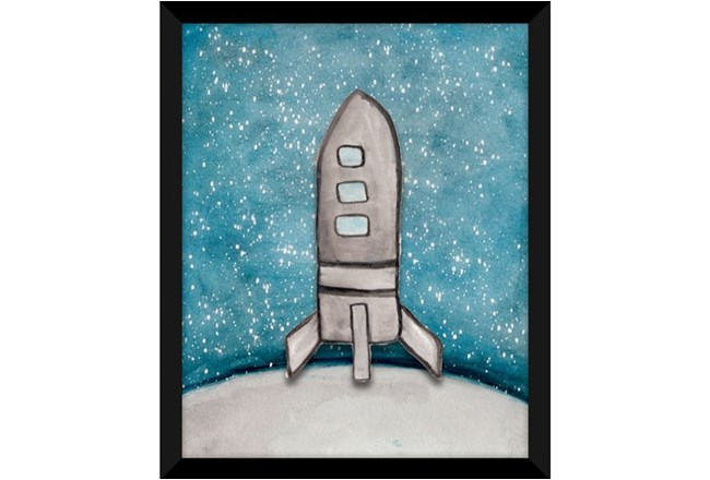 PICTURE-KIDS + TEEN GALAXY ROCKET SHIP I 18X22 - 360