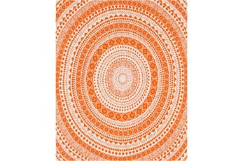 Accent Throw-Suzani Orange