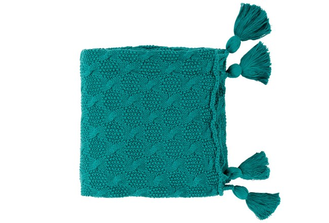 Accent Throw-Tassel Teal - 360