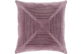 Accent Pillow-Cotton Velvet Box Pleat Lilac 18X18