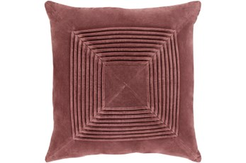 Accent Pillow-Cotton Velvet Box Pleat Sienna 20X20
