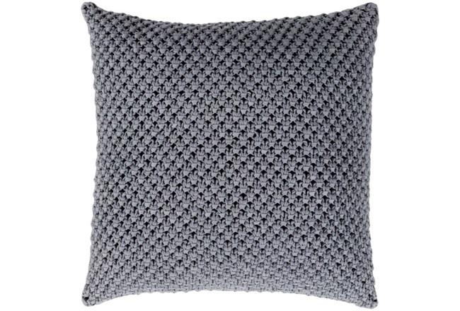 Accent Pillow-Crochet Cotton Grey 18X18 - 360