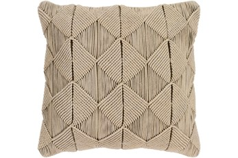 Accent Pillow-Macrame Diamonds Sage 18X18