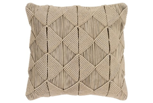 Accent Pillow-Macrame Diamonds Sage 20X20 - 360