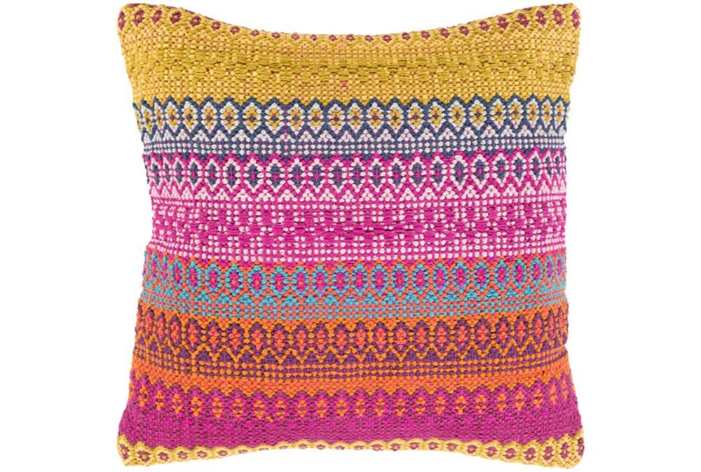 Accent Pillow-Retro Stripe Pink And Orange 18X18