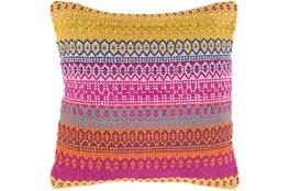 Accent Pillow-Retro Stripe Blue And Orange 20X20