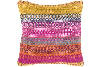 Accent Pillow-Retro Stripe Pink And Orange 18X18