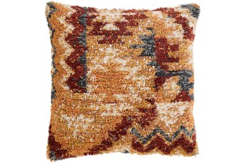 Accent Pillow-Shaggy Southwest Mustard 18X18