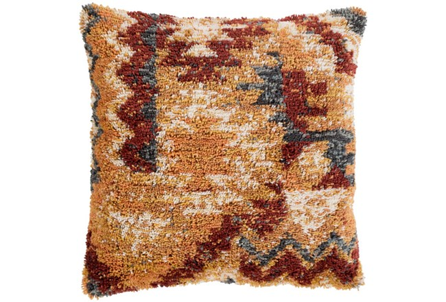 Accent Pillow-Shaggy Southwest Mustard 20X20 - 360