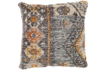 Accent Pillow-Shaggy Southwest Blue 20X20