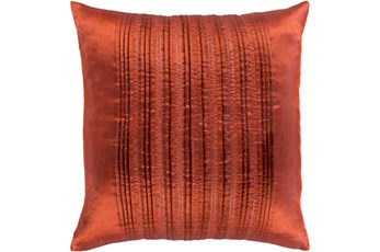 Accent Pillow-Pleated Stripes Paprika 20X20
