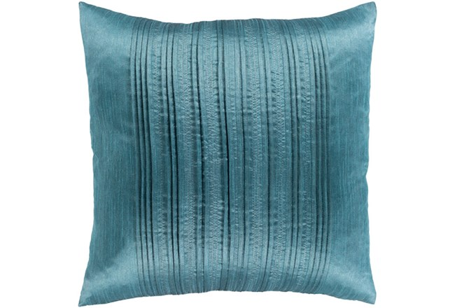 Accent Pillow-Pleated Stripes Teal 18X18 - 360