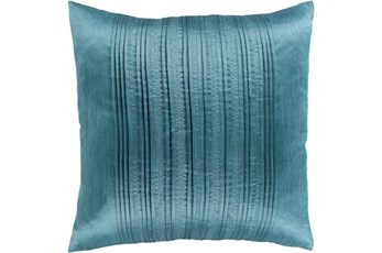 Accent Pillow-Pleated Stripes Teal 20X20
