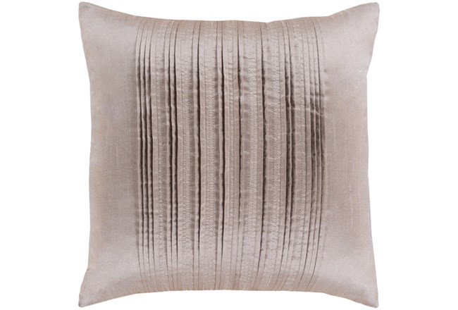 Accent Pillow-Pleated Stripes Taupe 20X20 - 360