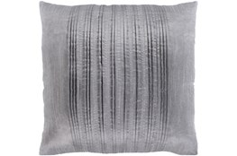 Accent Pillow-Pleated Stripes Silver 20X20
