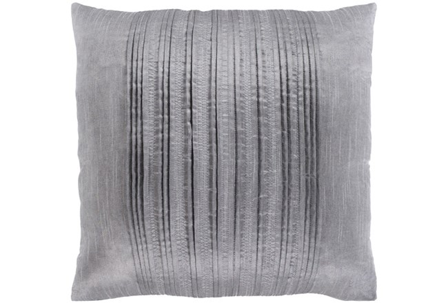 Accent Pillow-Pleated Stripes Silver 20X20 - 360