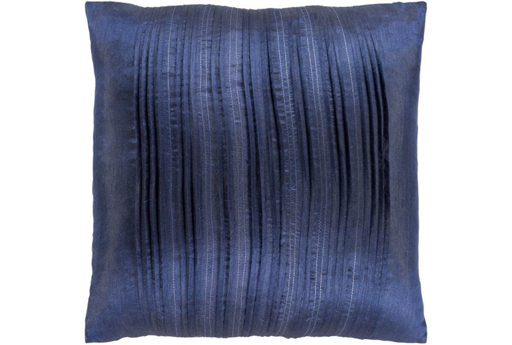 Accent Pillow-Pleated Stripes Blue 18X18