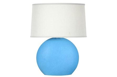 Table Lamp-Matte Blue Crackle