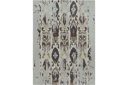 108X156 Rug-Wool Ikat Drip Grey & Brown